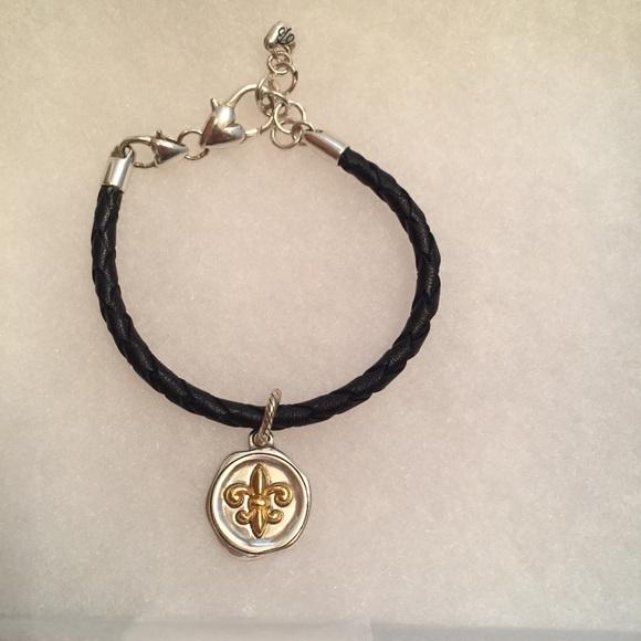 Brighton Jewelry Bracelet Charm Black Leather Carpe Diem Poshmark